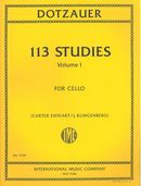 113 Studies, Vol. 1 : For Cello / edited by J. Klingenberg and Carter Enyeart.