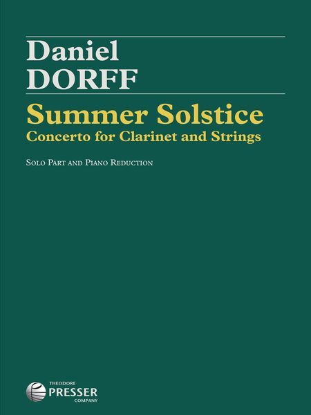 Summer Solstice : Concerto For Clarinet and Strings - Piano reduction.