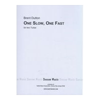 One Slow, One Fast : For Two Tubas (1973).