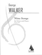 Nine Songs For Voice and Piano.