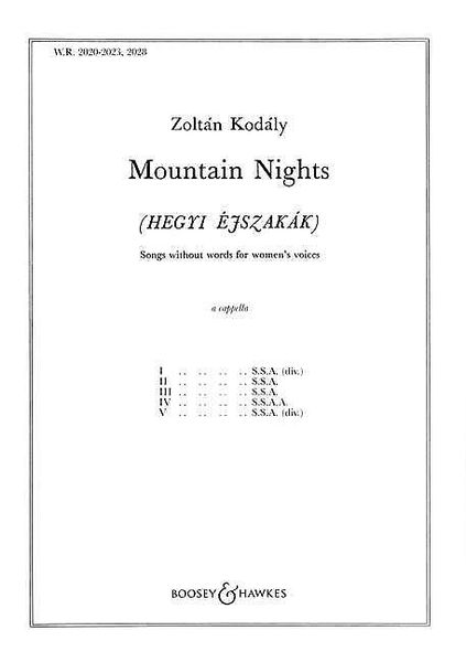 Mountain Nights Songs Without Words : For Women's Voices Acapella.