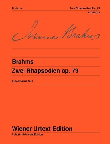 2 Rhapsodies, Op. 79 : For Piano.