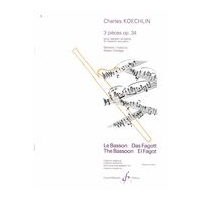 Three Pieces, Op. 34 : For Bassoon & Piano.
