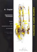Impressions D'automne : Elegie : For Alto Saxophone In E Flat and Orchestra - Piano reduction.