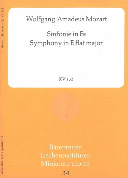 Symphony In Eb Major, K. 132 / edited by Wilhelm Fischer.