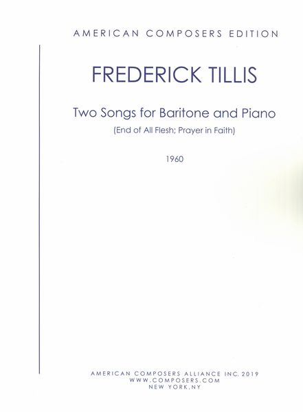 Two Songs : For Baritone and Piano.