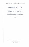 Concerto For : Trio (Flute, Cello and Piano) and Chamber Orchestra.