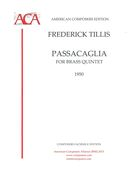 Passacaglia : For Brass Quintet (1950).
