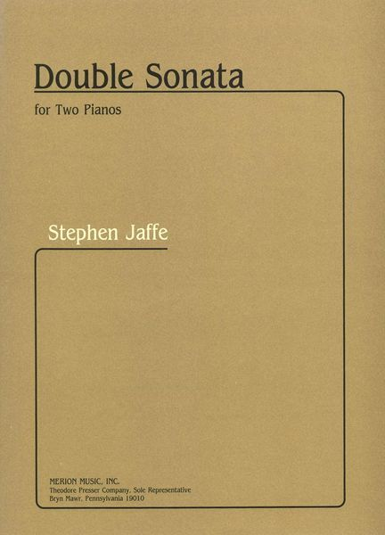 Double Sonata : For Two Pianos.