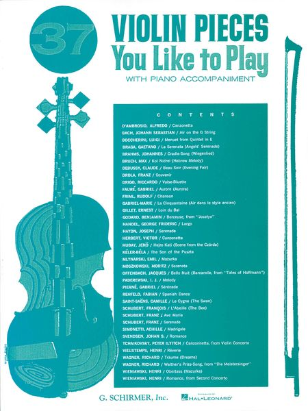37 Violin Pieces You Like To Play.