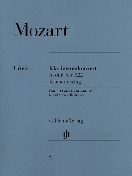 Concerto In A Major, K. 622 : For Clarinet and Orchestra - Piano reduction, ed. by Henrik Wiese.