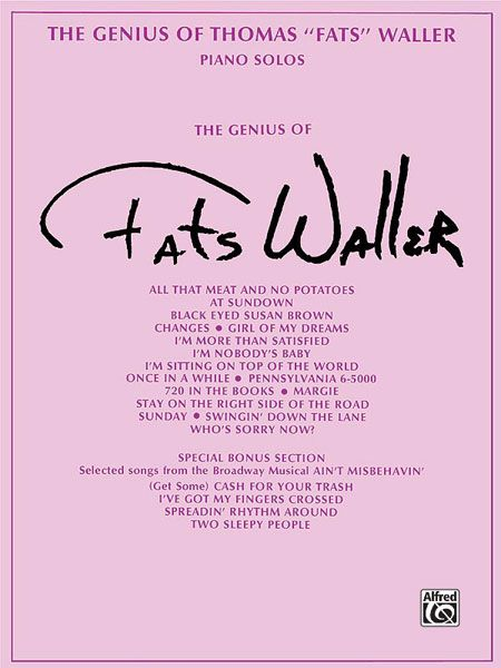 Genius Of Thomas Fats Waller : 20 Of His Own Piano Solo Arrangements.