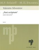 Post Scriptum : Sonata For Violin and Piano (1990).