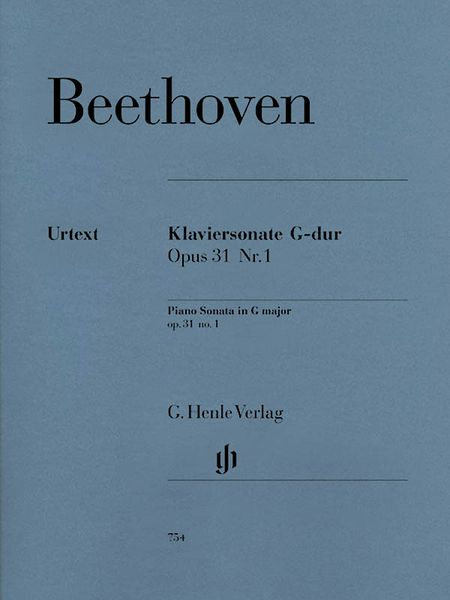 Klaviersonate Nr. 16 G-Dur, Op. 31 No. 1 / edited by Norbert Gertsch and Murray Perahia.