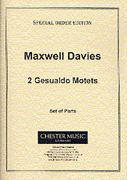 Two Gesualdo Motets : arranged For Brass Quintet by Peter Maxwell Davies.