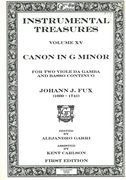 Canon In G Minor : For 2 Viole Di Gamba And Basso Continuo / First Edition.
