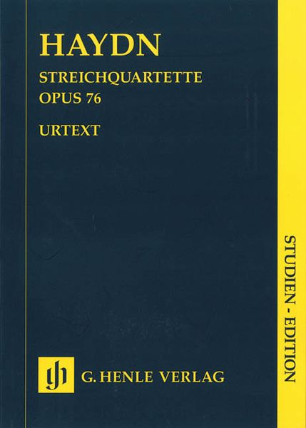 String Quartets, Book 10 : Erdödy Quartets Op. 76 / edited by Horst Walter.