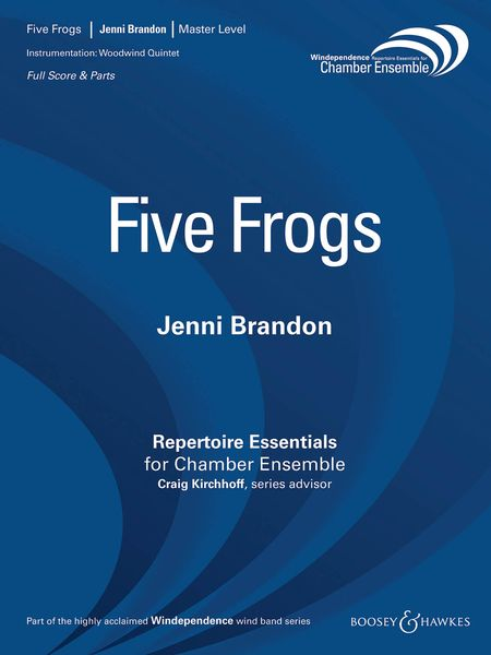 Five Frogs : For Woodwind Quintet.
