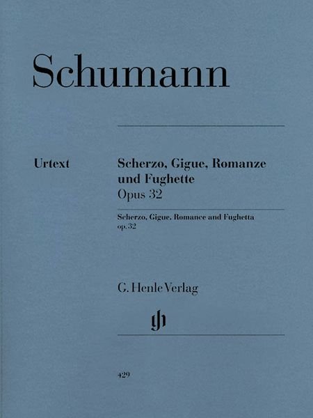 Scherzo, Gigue, Romanze Und Fughette, Op. 32 : For Piano / edited by Wiltrud Haug-Freienstein.