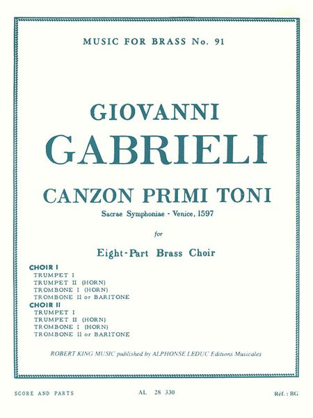 Canzon Primi Toni : For Brass Octet.