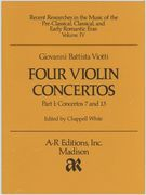 Four Violin Concertos, Part I : Concerto 7 In B-Flat Major, Concerto 13 In A Major.