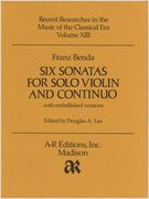 Six Sonatas For Solo Violin & Coninuo With Embellished Versions / edited by Douglas A. Lee.
