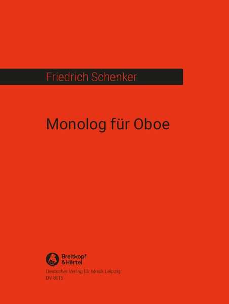Monolog : For Solo Oboe (1968).