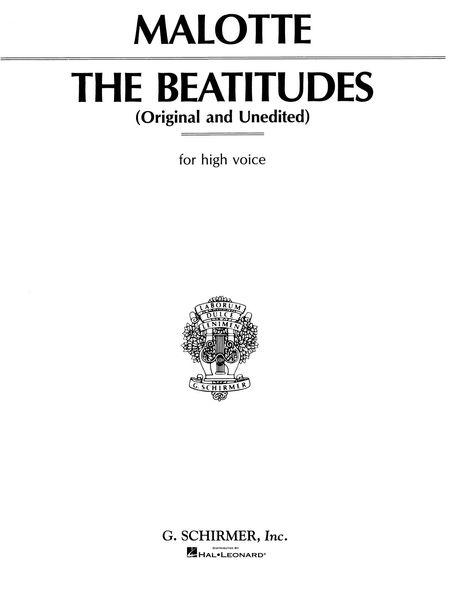 Beatitudes : For High Voice.
