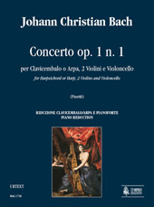 Concerto, Op. 1 No. 1 : For Harpsichord Or Harp, 2 Violins and Violoncello - Piano reduction.