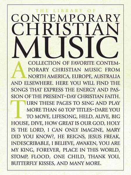 Library Of Contemporary Christian Music.