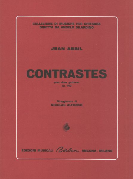 Contrasts, Op. 143 : For Two Guitars / Fingering by Nicolas Alfonso.
