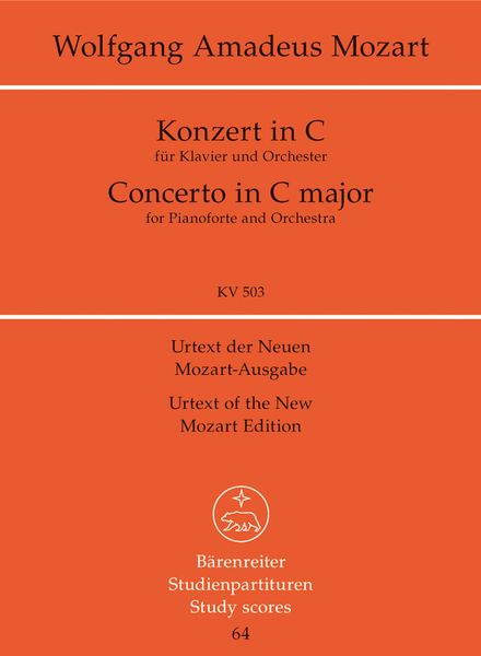 Concerto No. 25 In C Major, K. 503 : For Piano and Orchestra.
