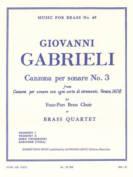 Canzona Per Sonare No. 3 : For Four-Part Brass Choir.