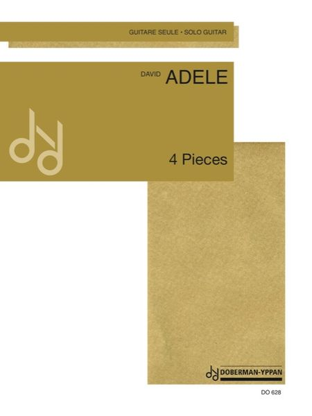 4 Pieces : For Solo Guitar. Intermediaire.