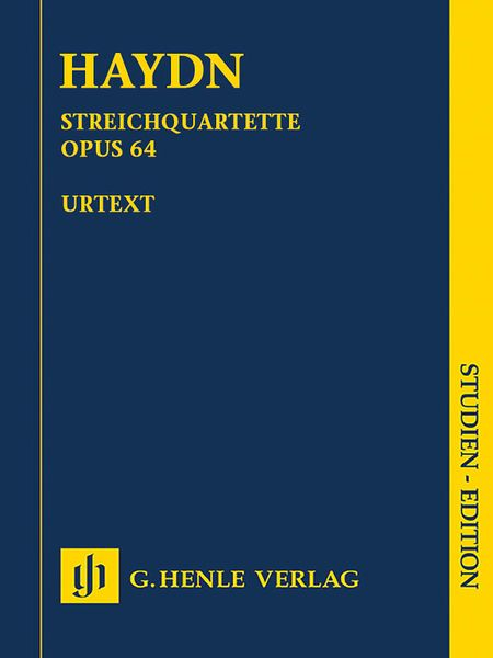 String Quartets, Book 8 : Op. 64 / edited by Georg Feder, Isidor Saslav and Warren Kirkendale.