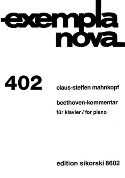 Beethoven-Kommentar : For Piano (2004).