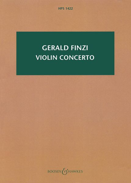 Violin Concerto / edited by Stephen Banfield (Revised 2009).