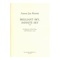 Brilliant Sky, Infinite Sky : For Baritone, Violin, Piano and Percussion (1 Player) (1990).