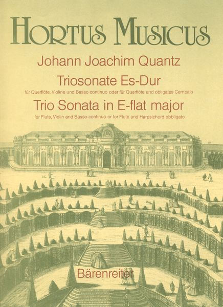 Trio Sonata In E-Flat Major : For Flute, Violin and Basso Continuo.