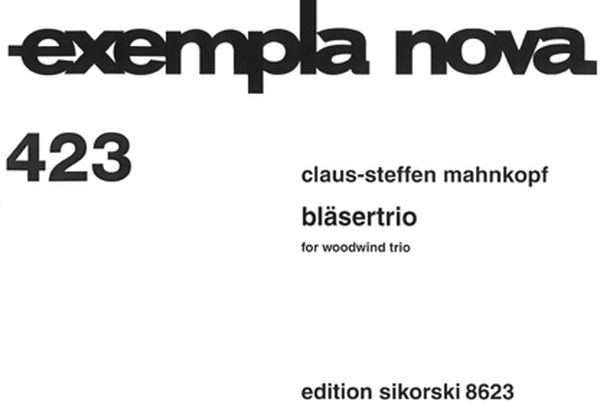 Bläsertrio : For Woodwind Trio (1995).