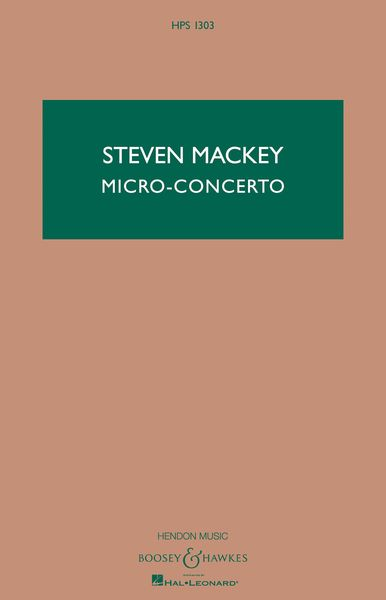 Micro-Concerto : For Percussionist and Mixed Quintet.