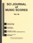 S C I Journal Of Music Scores, Vol. 45.