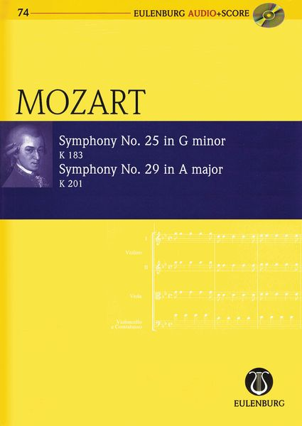 Symphony No. 25 In G Major, K. 183; Symphony No. 29 In A Major, K. 201 / edited by Richard Clarke.