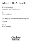 Five Songs On French and German Texts.
