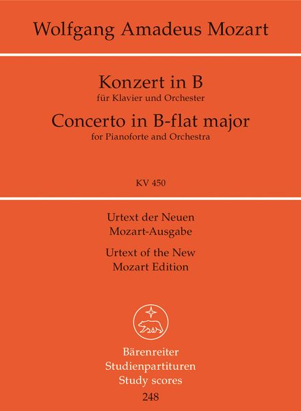 Concerto No. 15 In Bb Major, K. 450 : For Piano and Orchestra.