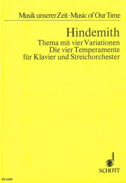Thema Mit Vier Variationen (Die Vier Temperamente) : For Piano and String Orchestra.