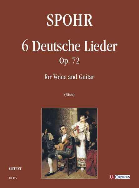 6 Deutsche Lieder, Op. 72 : For Voice and Guitar / edited by Fabio Rizza.