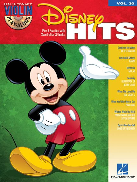 Disney Hits - Play 8 Favorites With Sound-Alike CD Tracks : For Violin.