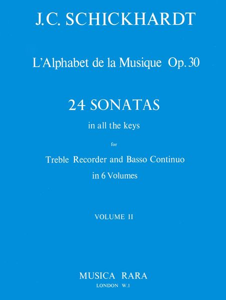 Alphabet - Sonatas, Op. 30 Nos. 5-8 : For Recorder and Basso Continuo / edited by Paul J. Everett.