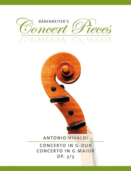 Concerto In G Major, Op. 3/3 : For Violin and Piano / edited by Kurt Sassmannshaus.